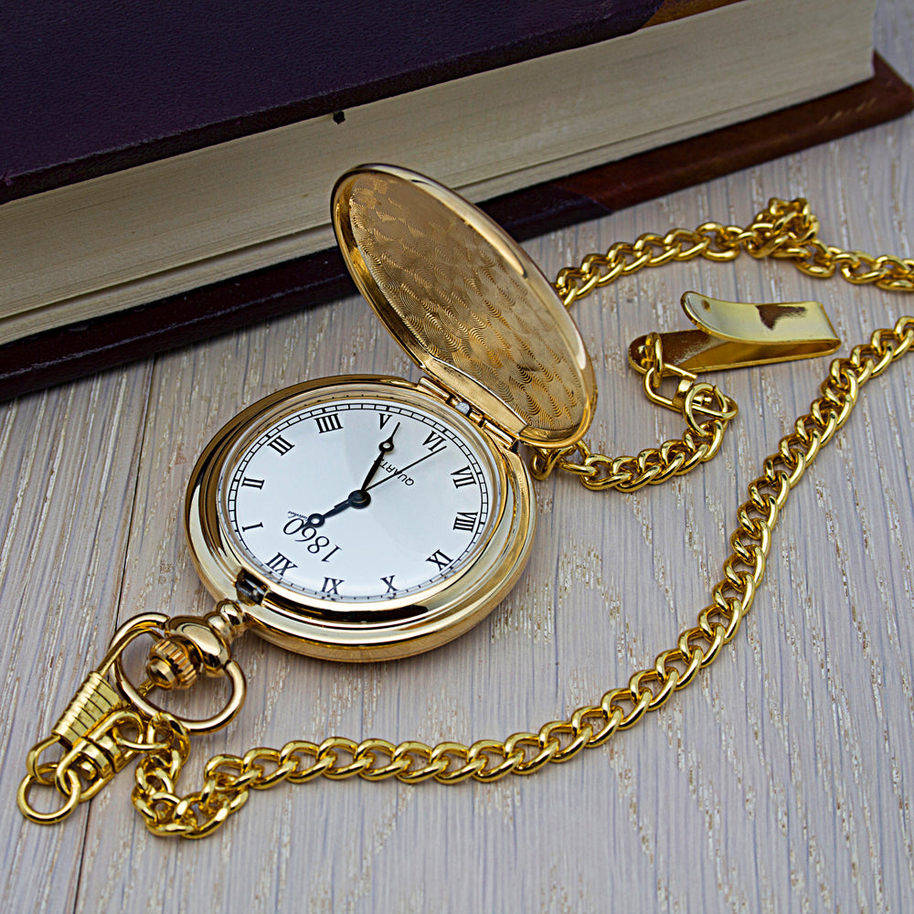 Personalised Groomsman Icon Collection Pocket Watch - treat-republic