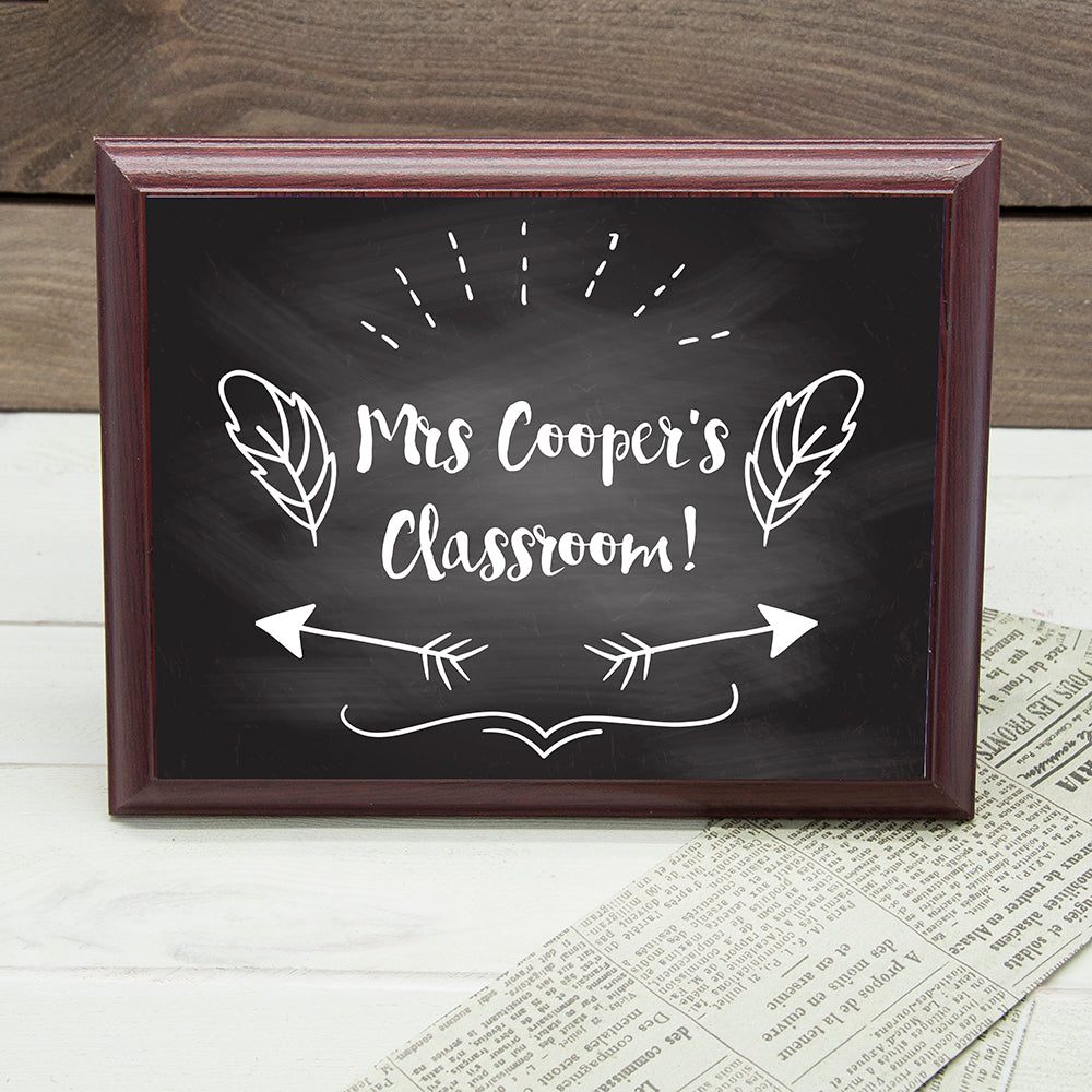 Personalised Teacher's Classroom Sign - treat-republic
