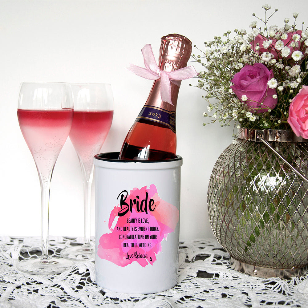 Bridal Personalised Miniature Champagne Bucket - treat-republic