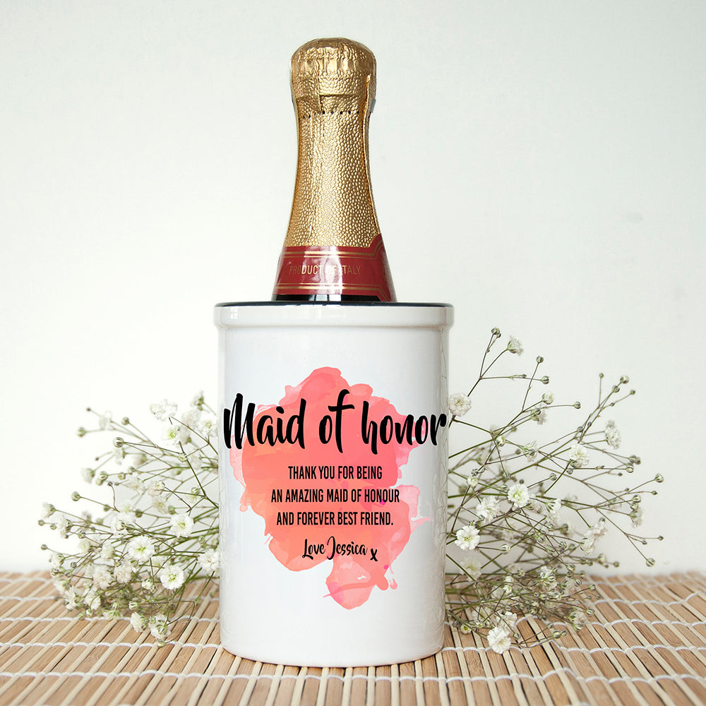 Personalised Maid of Honour Miniature Champagne Bucket - treat-republic