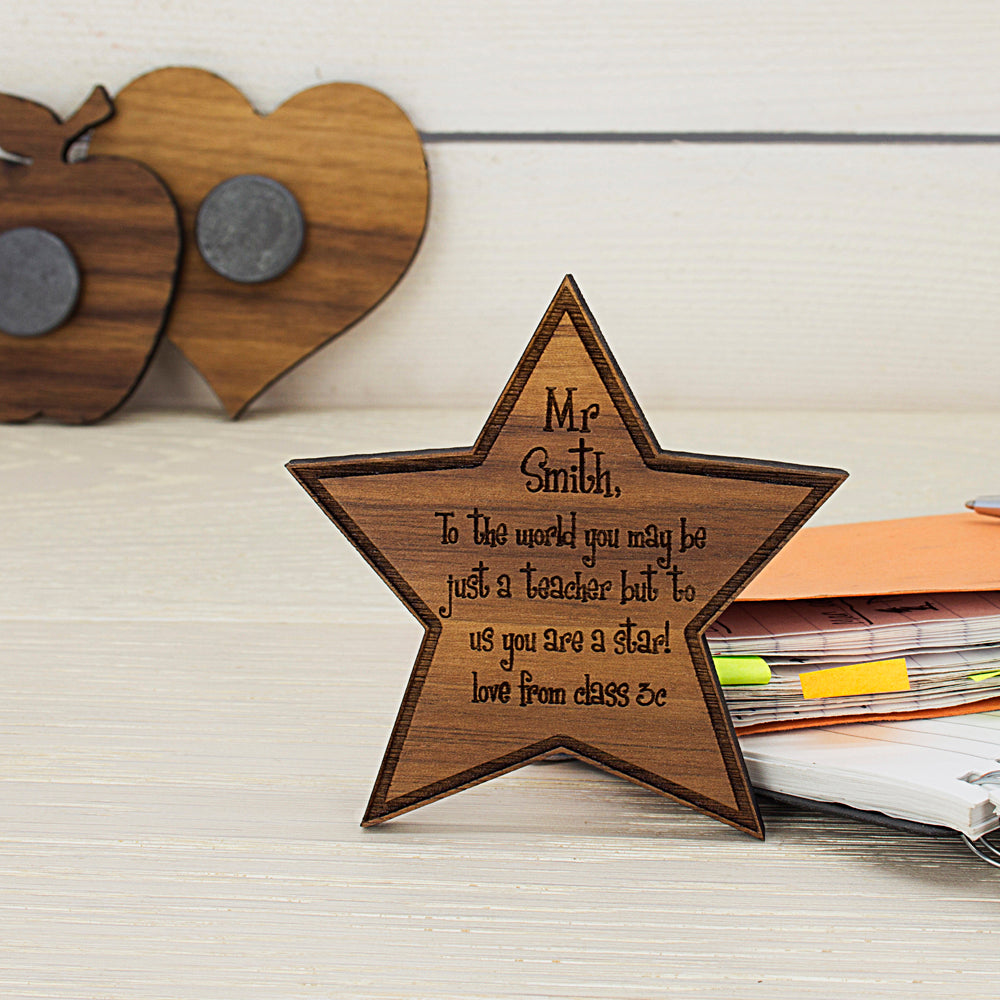 Personalised My Teacher Is A Star Fridge Magnet - treat-republic