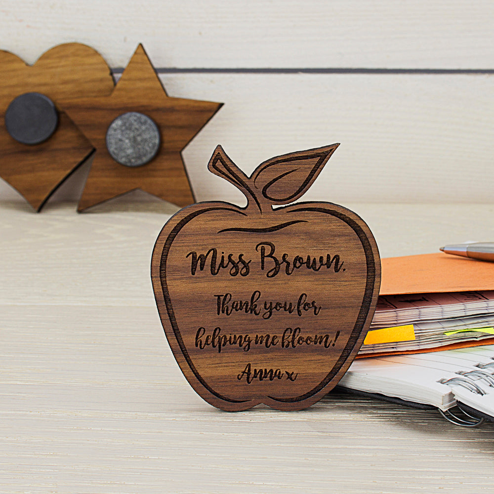 Personalised Teacher's Apple Shaped Fridge Magnet - treat-republic