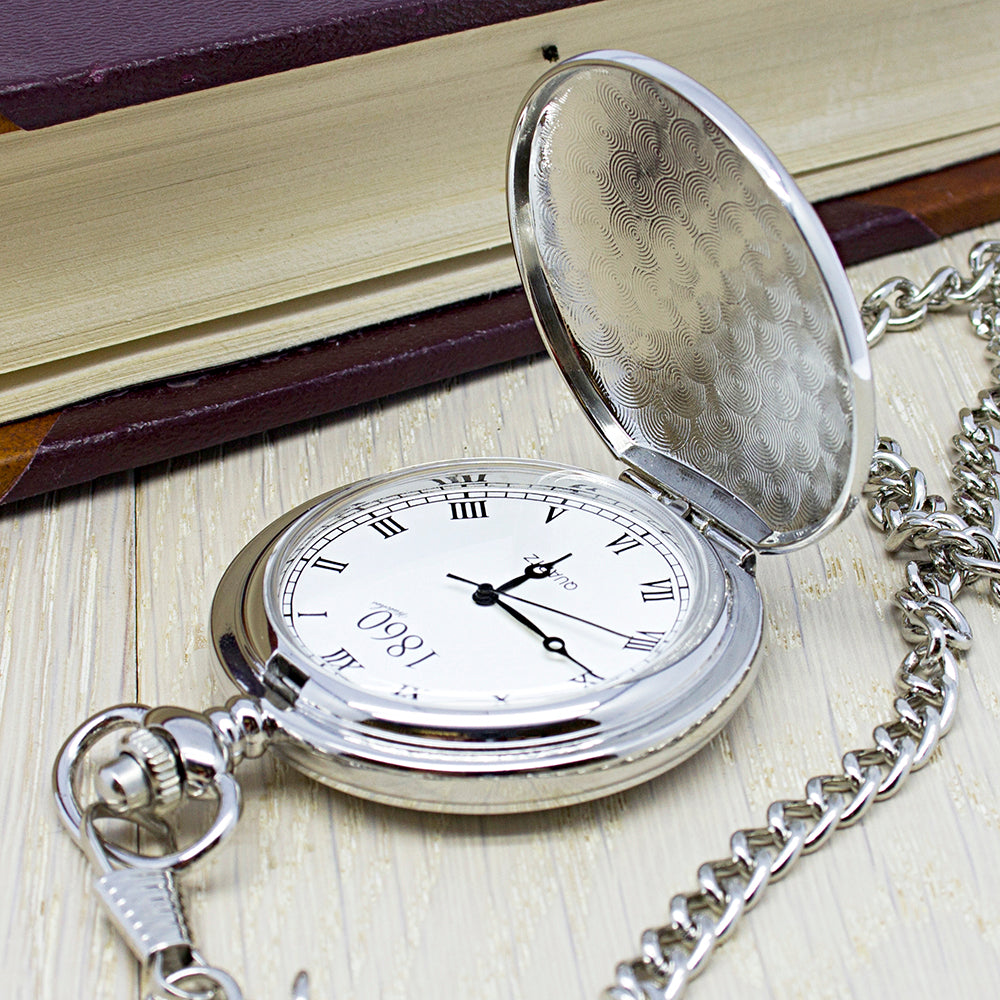 Personalised Groomsman Monogramed Pocket Watch - treat-republic