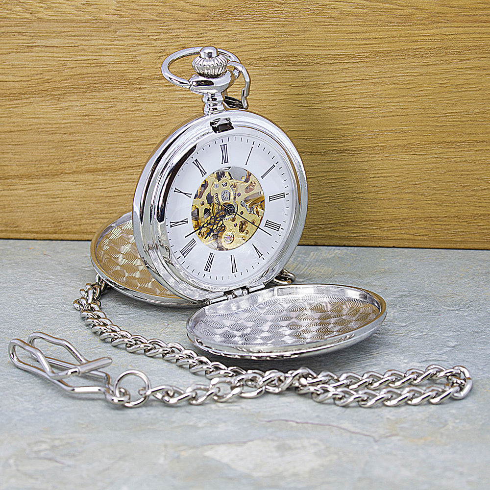 Personalised Heritage Dual-Side Pocket Watch - treat-republic