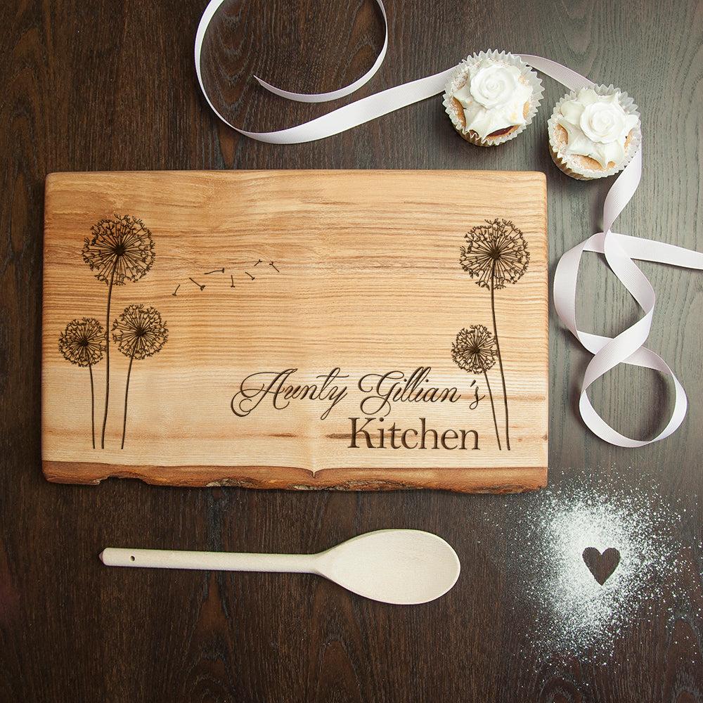 Personalised Baker's Kitchen Rustic Chopping Board - treat-republic