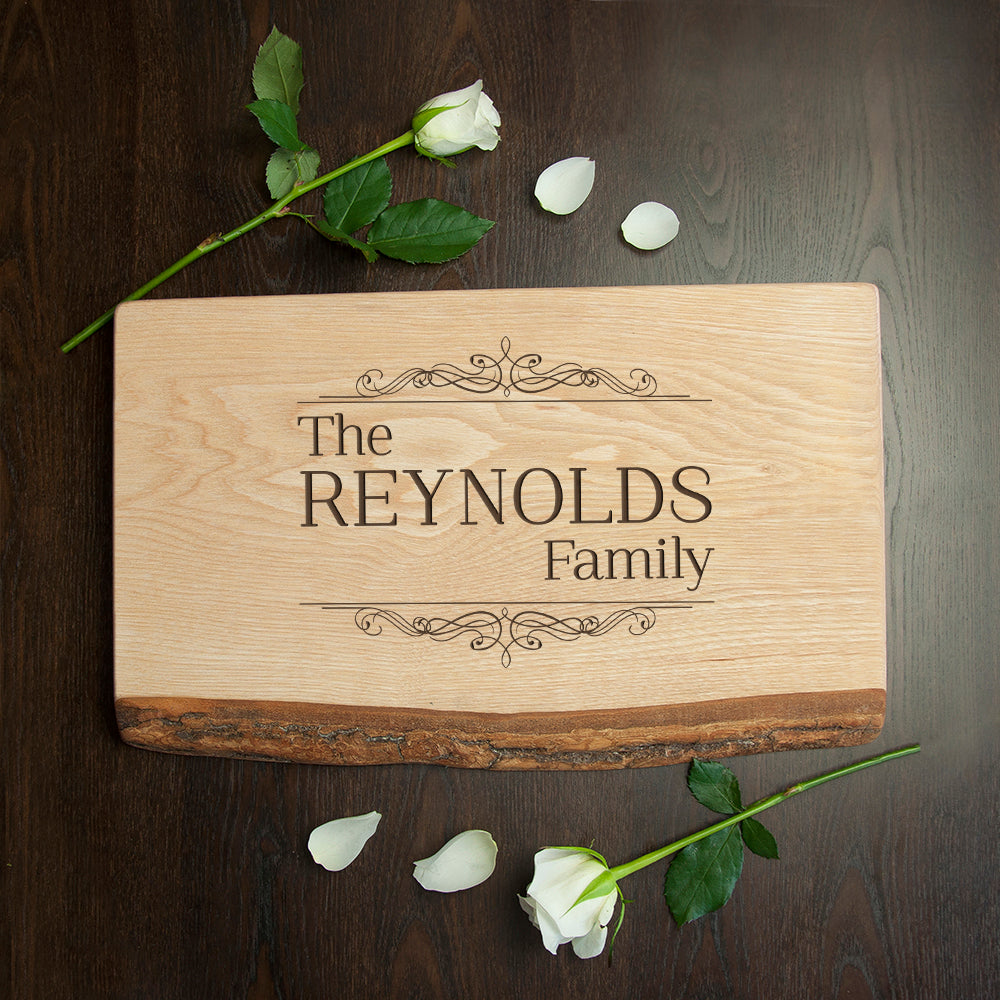 Personalised Vintage Family Rustic Serving Board - treat-republic