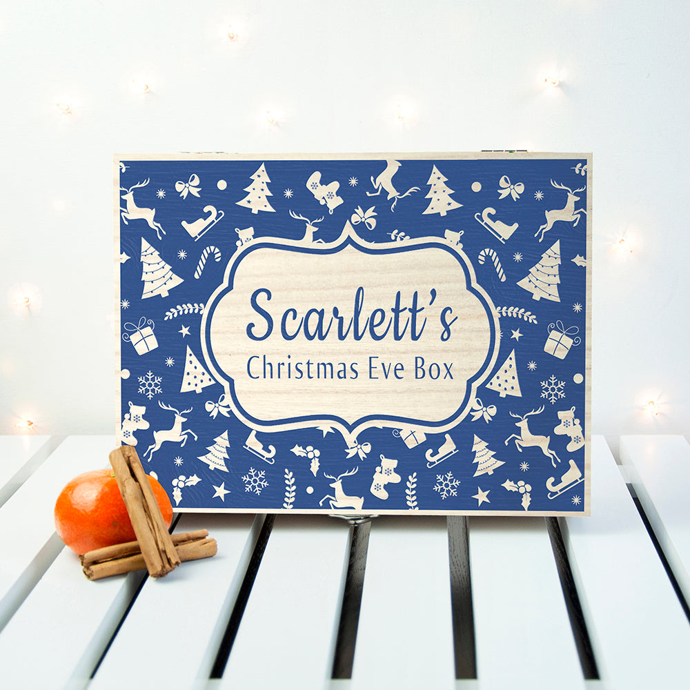 Personalised Christmas Eve Box With Festive Pattern - treat-republic