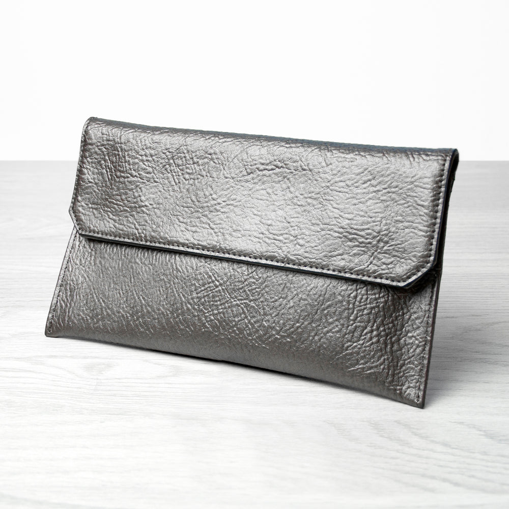 Personalised Metallic Leather Clutch Bag - treat-republic