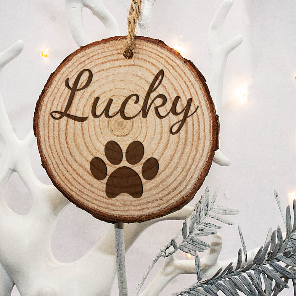 Personalised Engraved Family Dog Christmas Tree Decoration - treat-republic