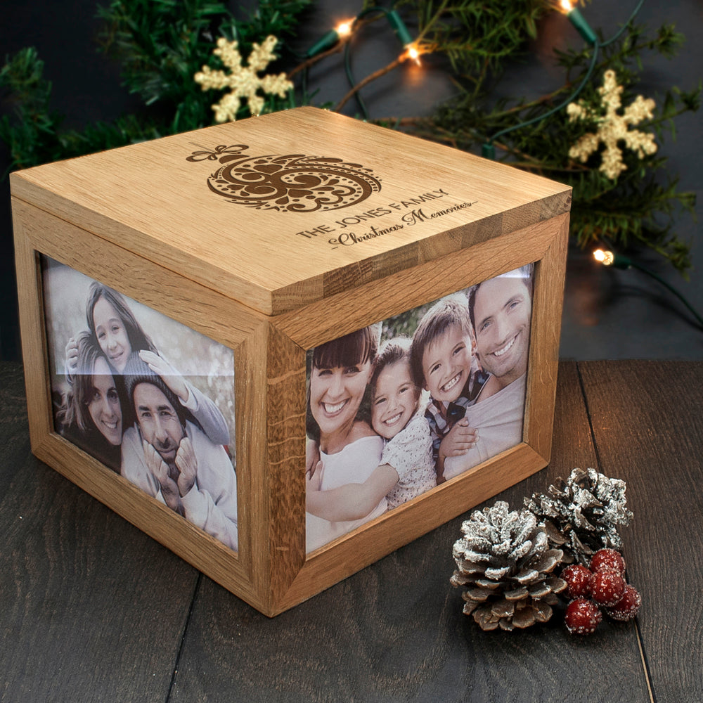 Personalised Christmas Memory Box Bauble Design - treat-republic