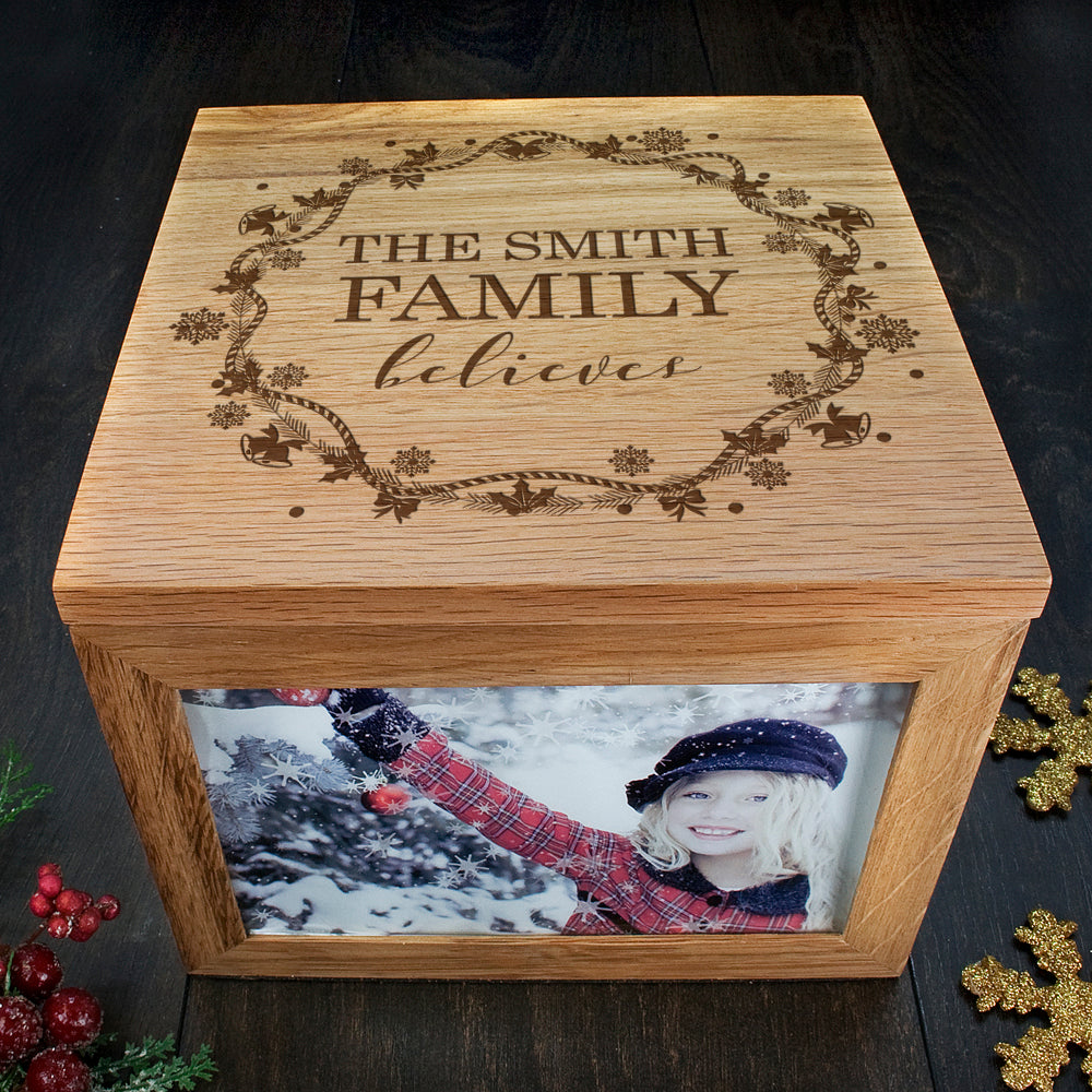 Personalised Our Family Believes Christmas Memory Box - treat-republic