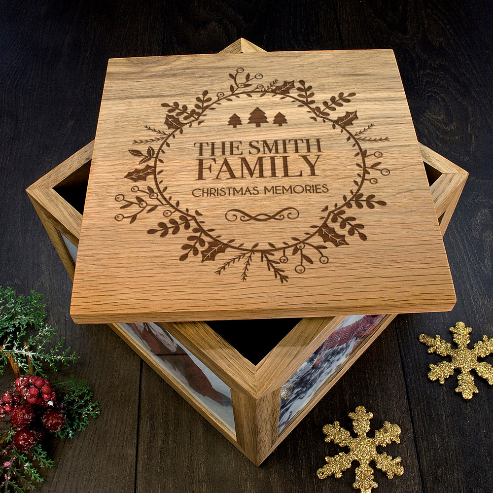 Personalised Christmas Memory Box Traditional Design - treat-republic