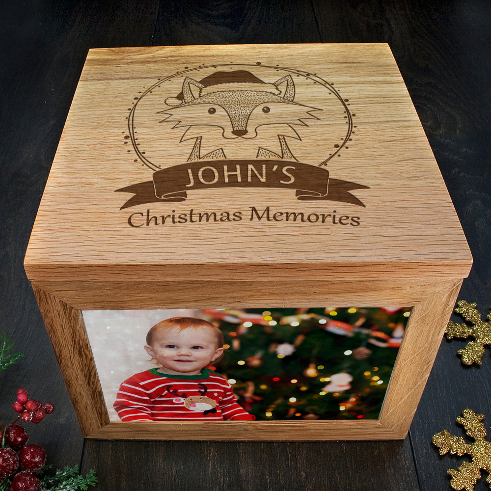 Personalised Woodland Fox Christmas Christmas Memory Box - treat-republic