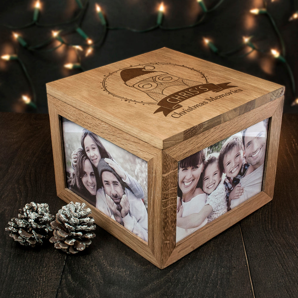 Personalised Woodland Owl Christmas Christmas Memory Box - treat-republic