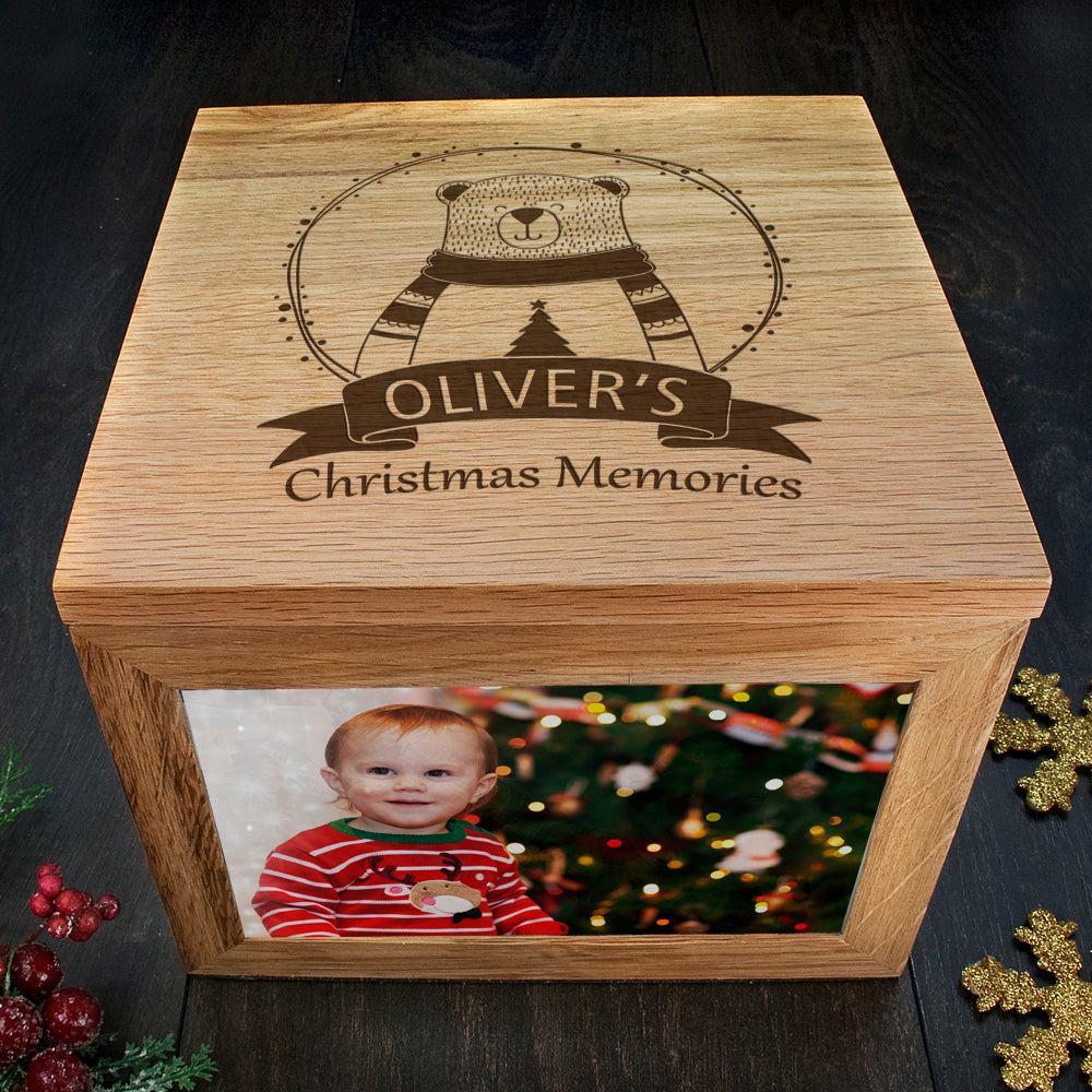 Personalised Polar Bear Christmas Memory Box - treat-republic