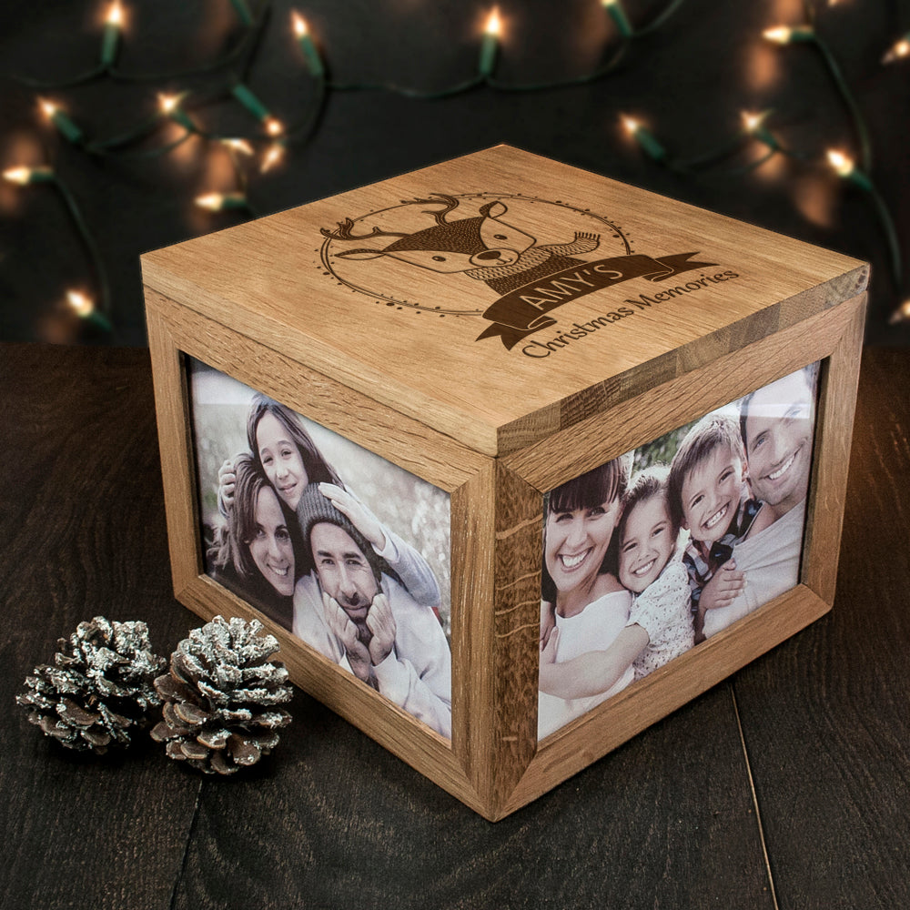 Personalised Woodland Reindeer Christmas Memory Box - treat-republic