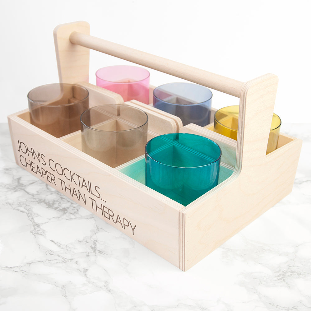Personalised LSA Coloured Cocktail Tumbler Trug - treat-republic