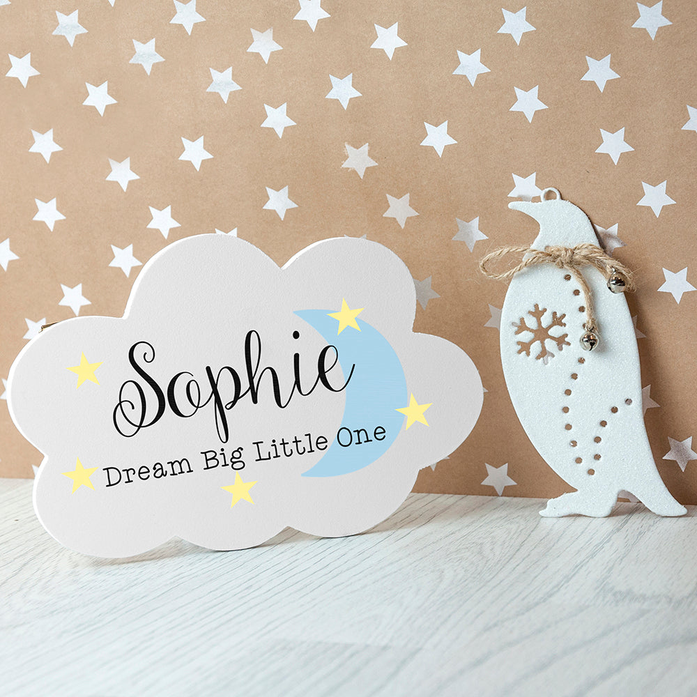 Personalised Keep Dreaming Cloud Wall Hanging - treat-republic