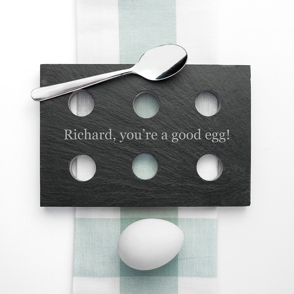 Personalised Slate Egg Holder - treat-republic