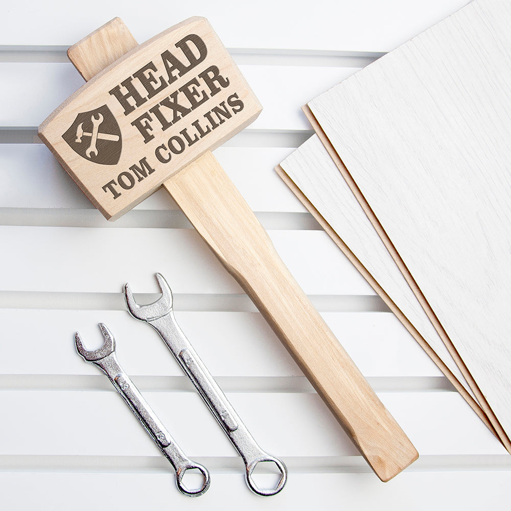 Head Fixer Personalised Wooden Mallet - treat-republic