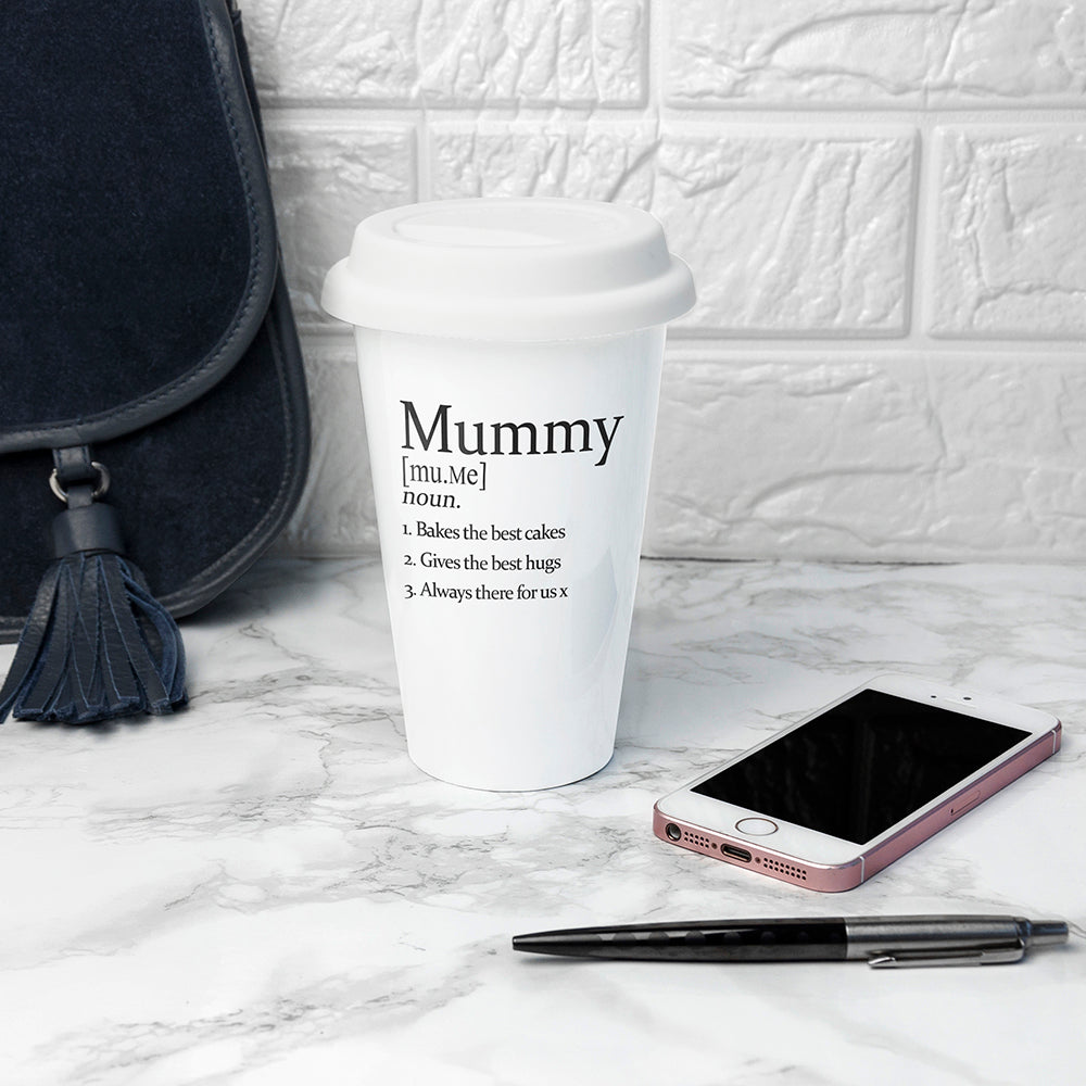 Personalised Definition Ceramic Eco Cup - treat-republic