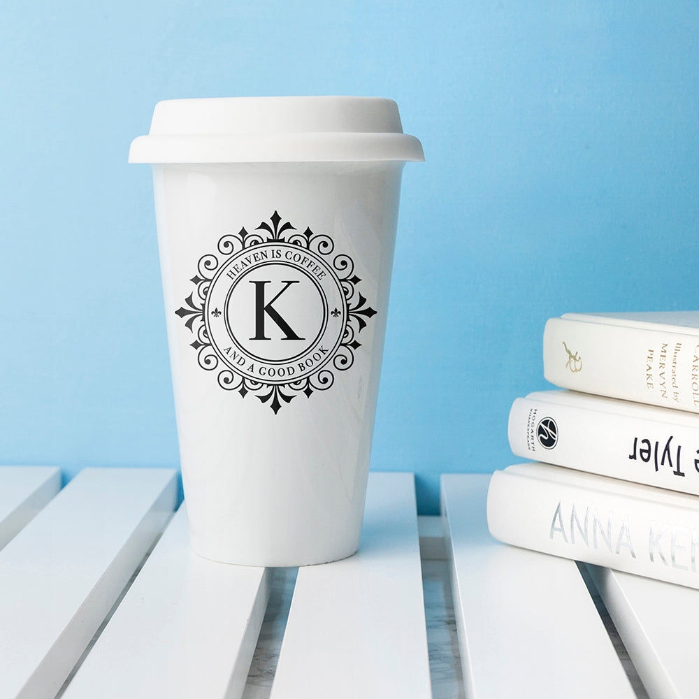 Personalised Monogrammed Ceramic Eco Cup