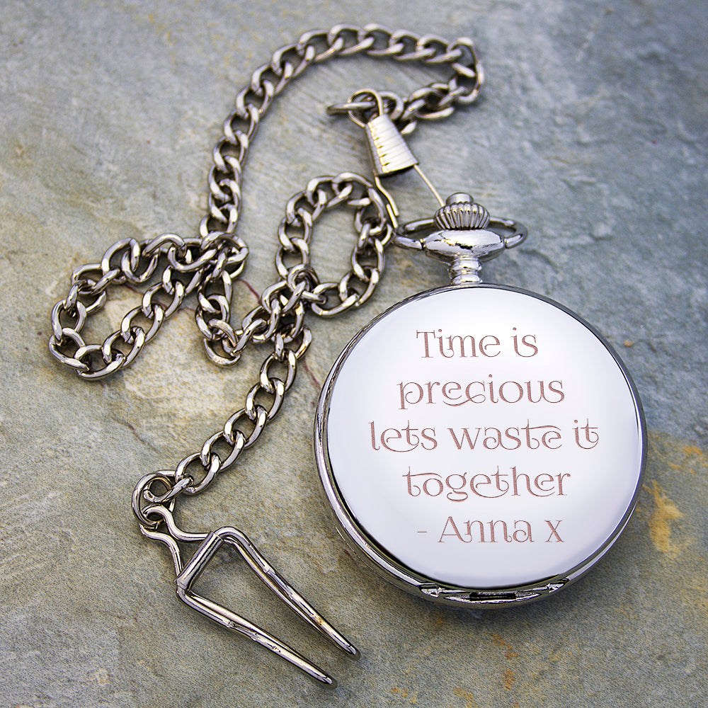 Personalised Valentine's Day Pocket Watch - treat-republic