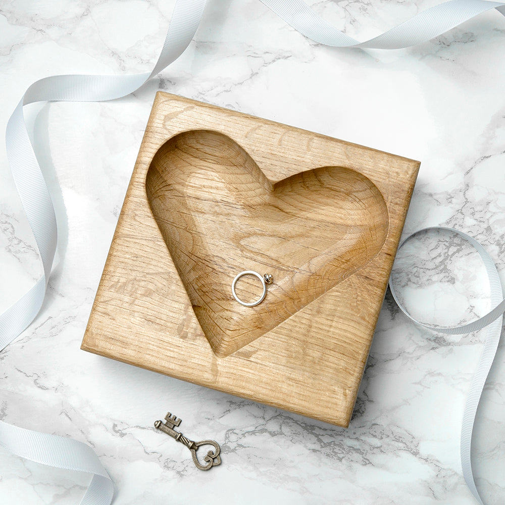 Personalised Solid Oak Trinket Dish - treat-republic