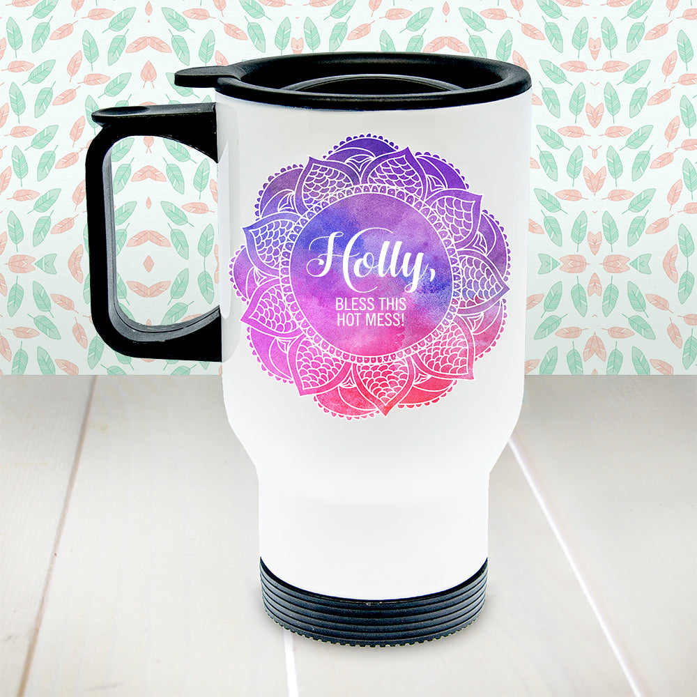 Personalised Spirited White Travel Mug - treat-republic