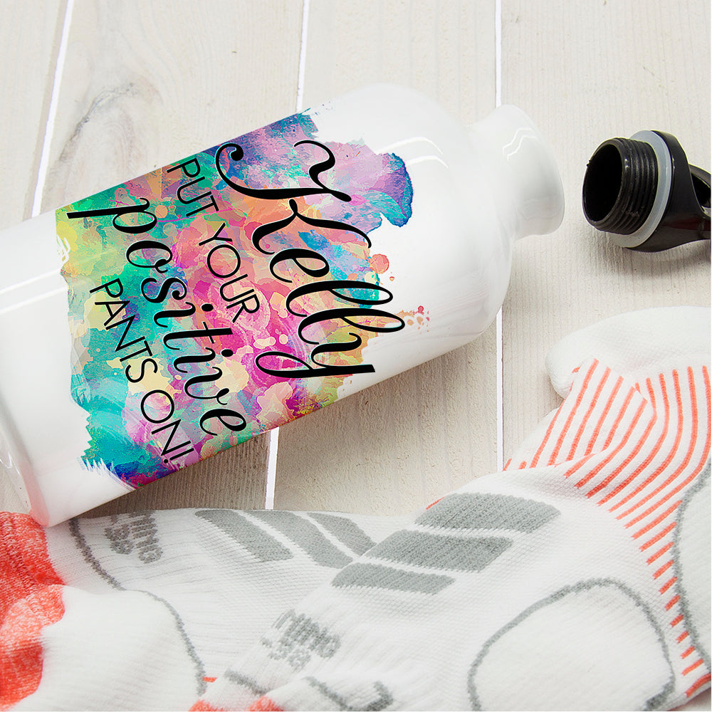 Personalised Positive Pants Water Bottle - treat-republic