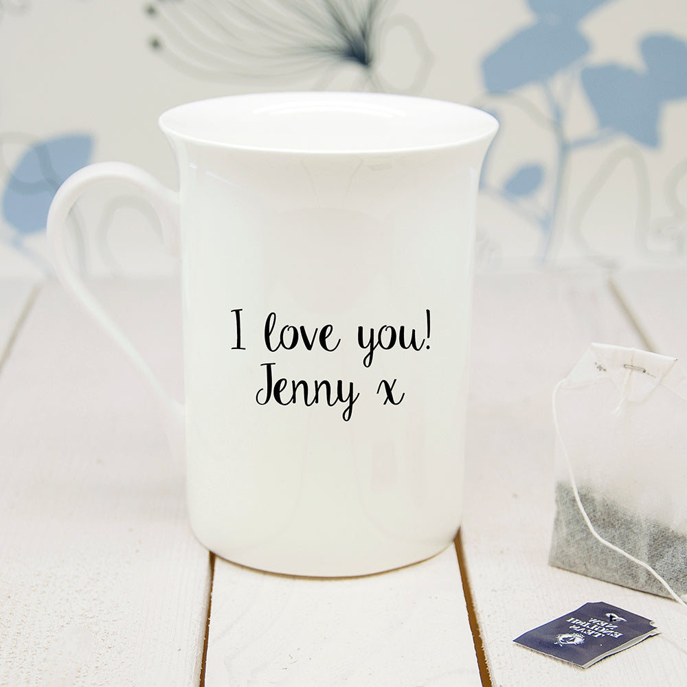 Personalised Oat-Standing Bone China Mug - treat-republic