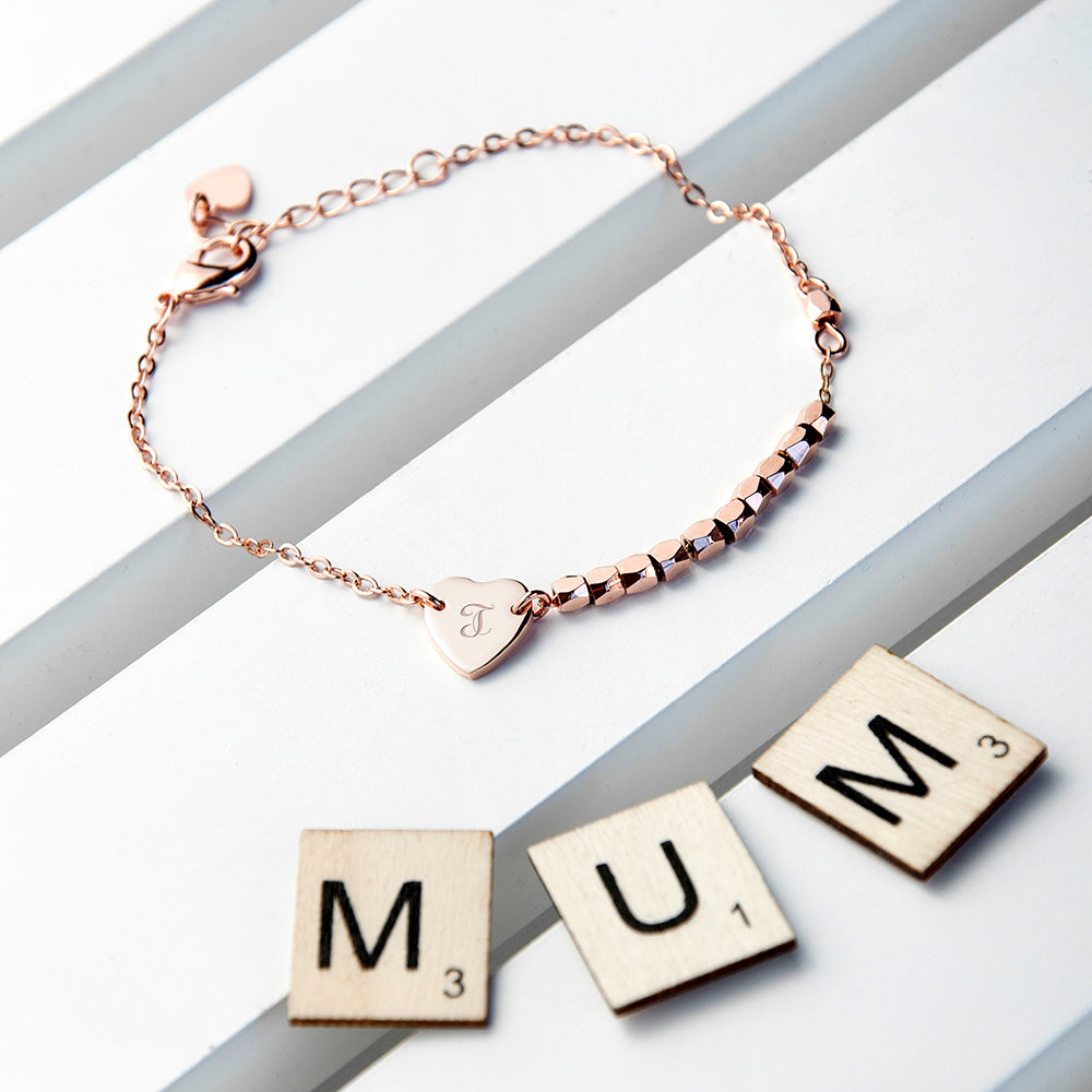 Personalised Heart Charm Bracelet - treat-republic