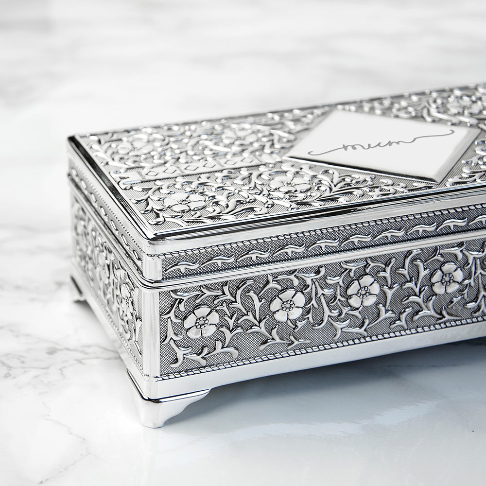 Personalised Silver Trinket Box - treat-republic