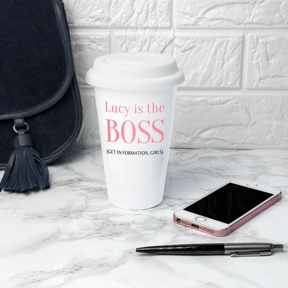 Personalised The Boss Travel Mug - treat-republic