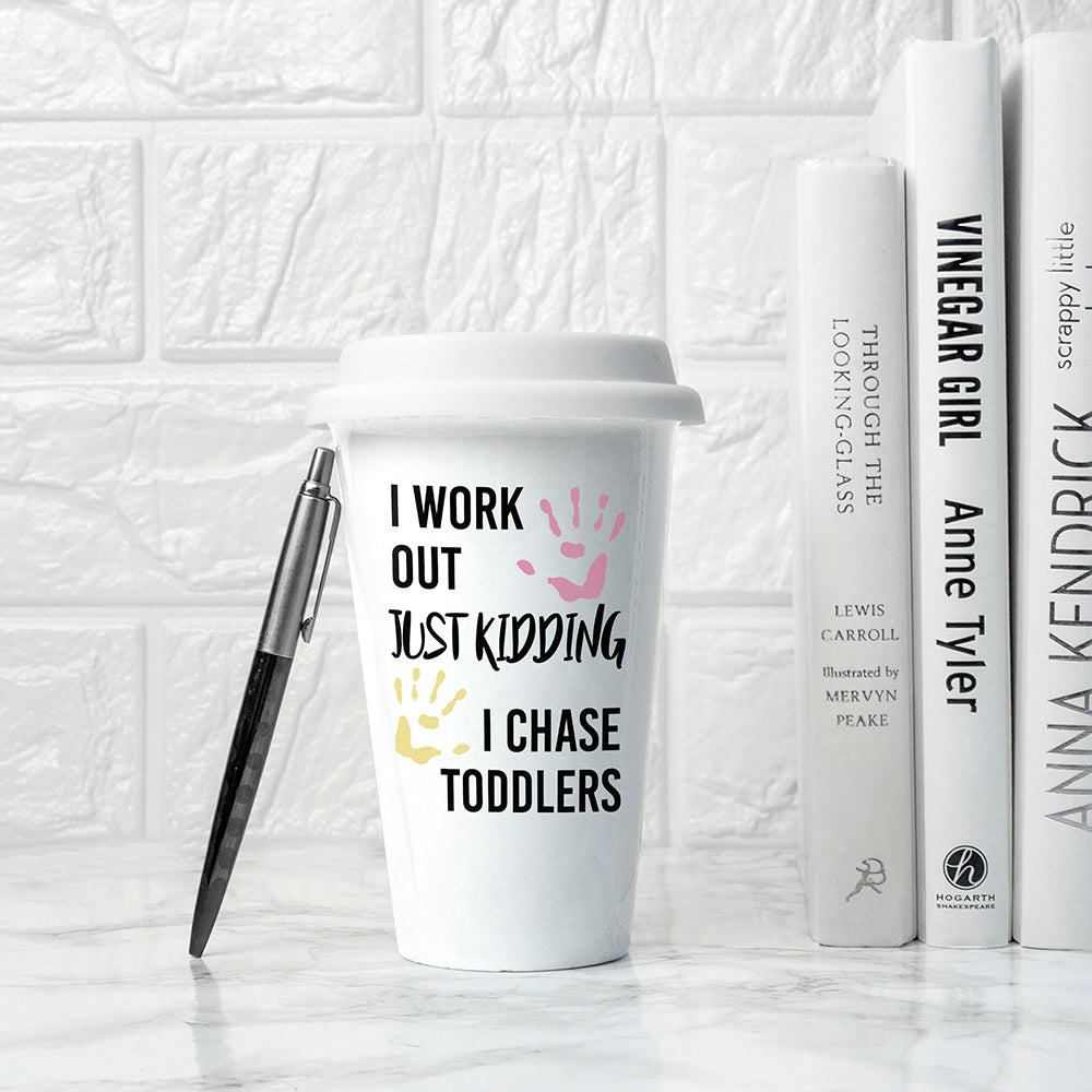 Personalised Just Kidding Travel Mug - treat-republic