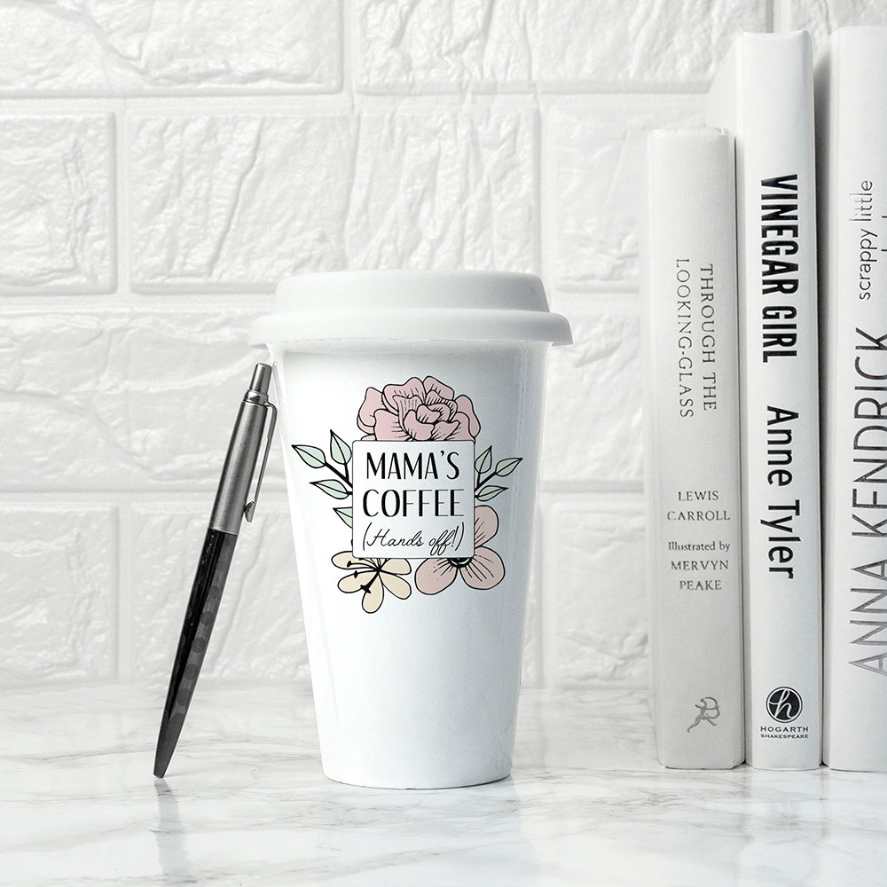 Personalised Hands Off Travel Mug - treat-republic