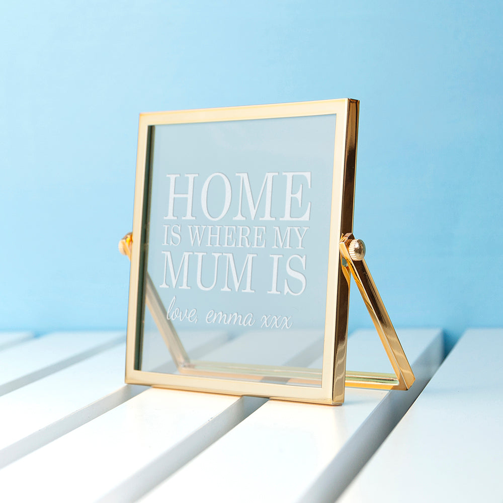 Engraved Home is Mum Gold Frame - treat-republic