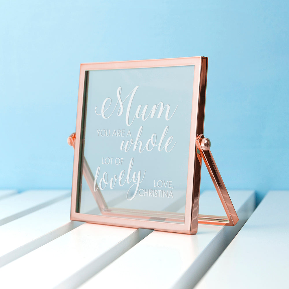 Engraved You're Lovely Rose Gold Frame - treat-republic