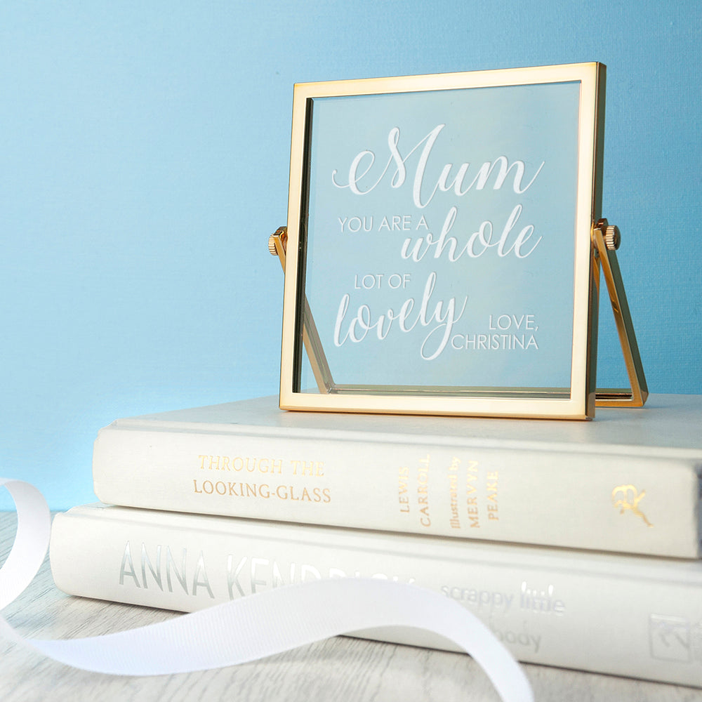 Engraved You're Lovely Gold Frame - treat-republic