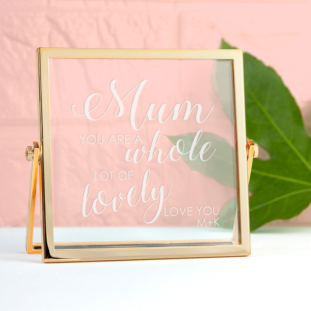 Engraved You're Lovely Gold Frame
