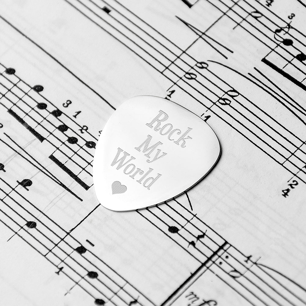 Personalised Romantic Plectrum - treat-republic