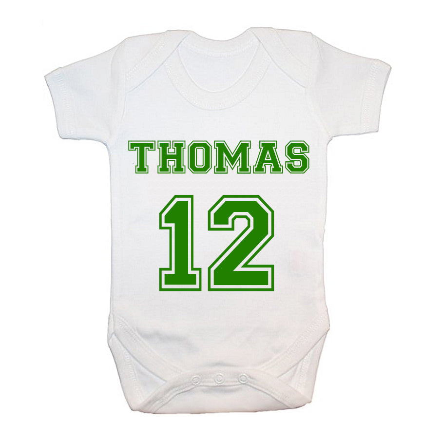 Personalised Football Kit Baby Grow - treat-republic