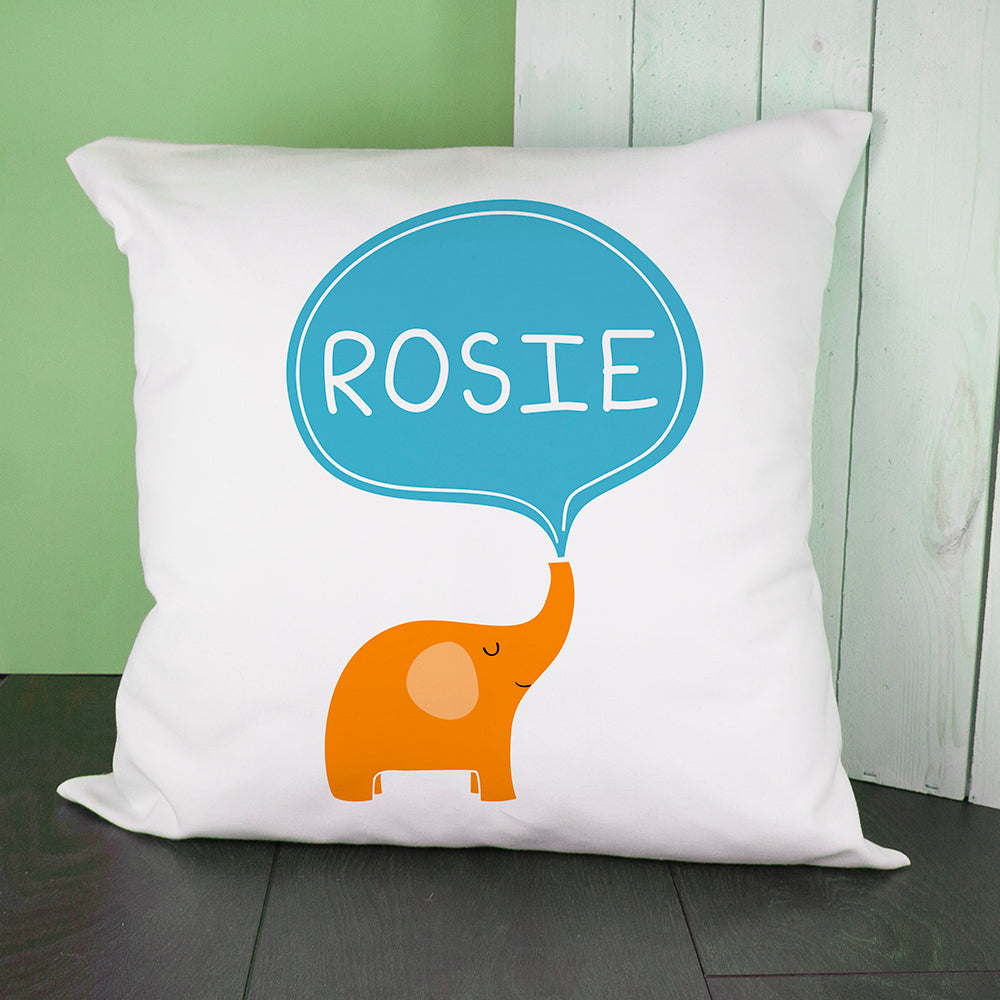 Personalised Hello Baby Elephant Cushion Cover - treat-republic