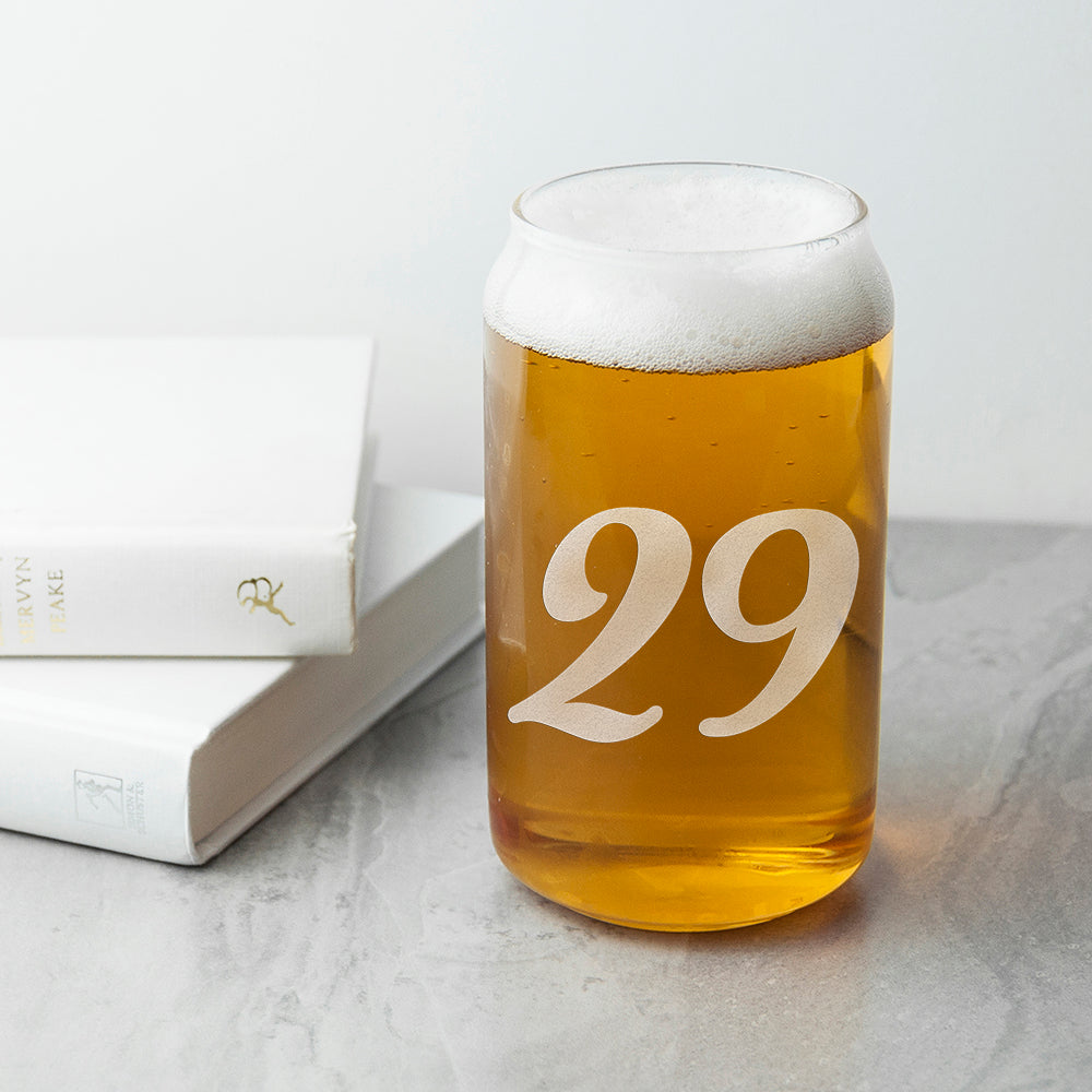 Personalised Birthday Can Glass