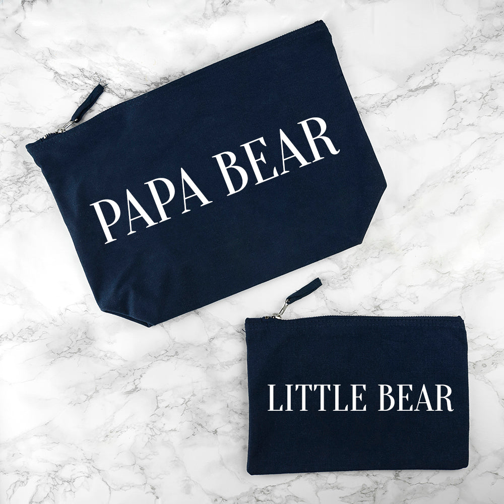 Personalised Daddy & Me Navy Wash Bags - treat-republic
