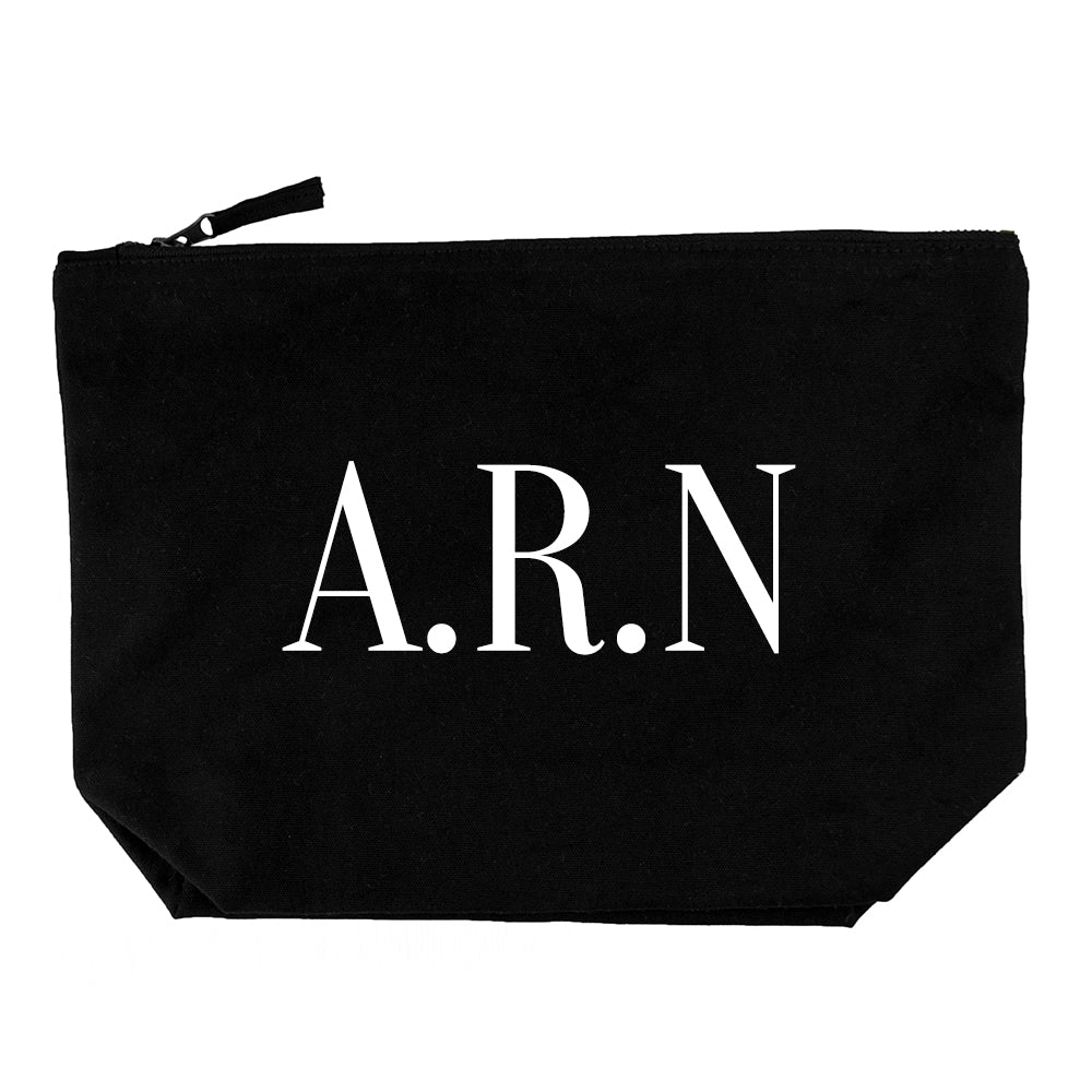 Personalised Men's Wash Bag in Black