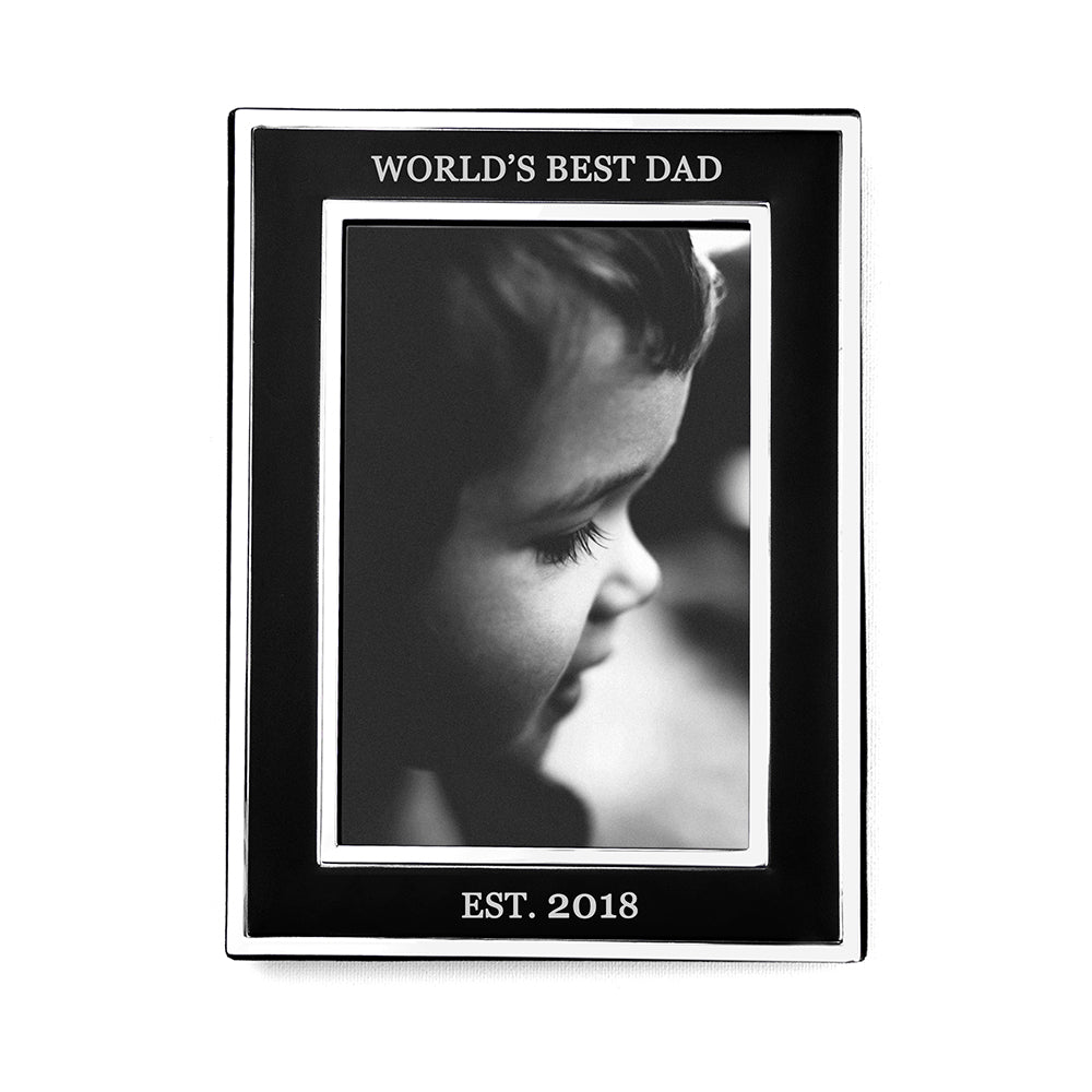 Personalised Silver Plated Father's Day Frame - treat-republic
