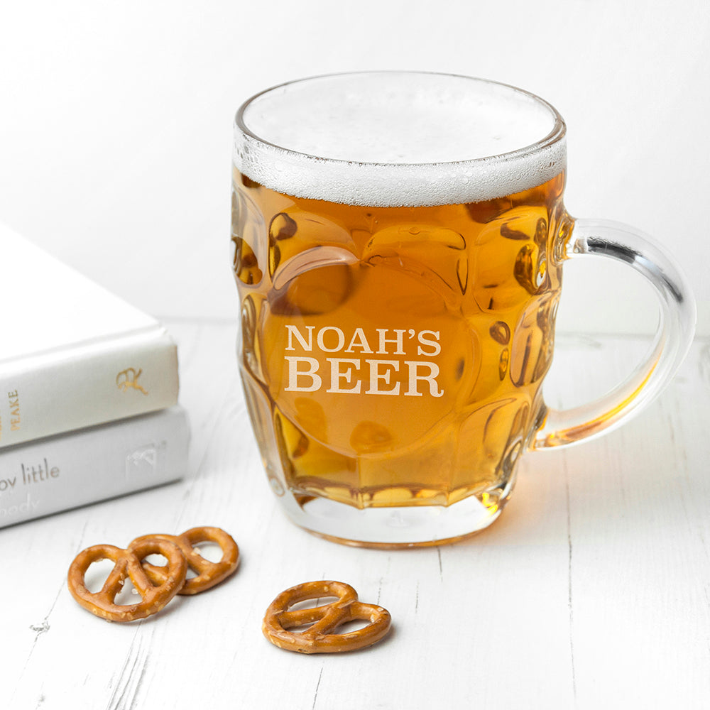 Personalised Dimpled Beer Glass - treat-republic