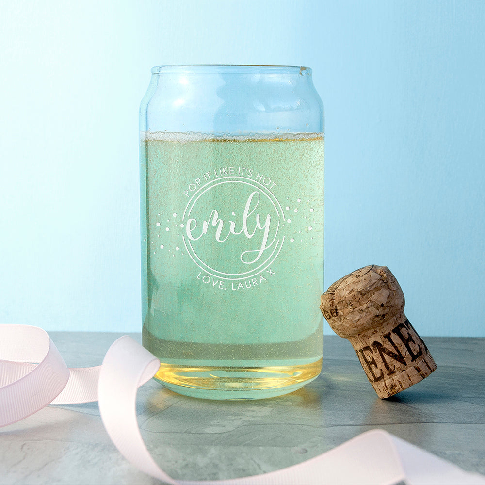 Personalised Bring On The Bubbly Can Glass - treat-republic