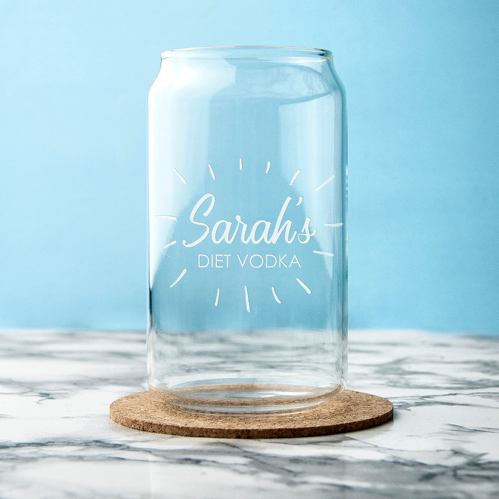 Personalised The Perfect Mix Can Glass
